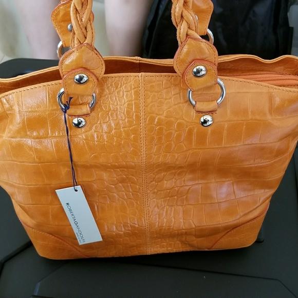 a01a55e931 Roberta Gandolfi Orange Leather Handbag